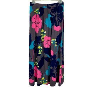 Boden Hibiscus Floral Maxi Skirt